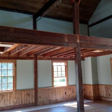 Interior Progress on the Red Barn project May 2015